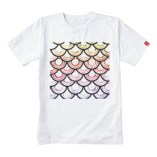 Bright Scallops Art Design Zazzle HEART T-Shirt