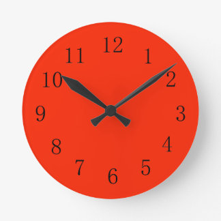 Bright Scarlet Red Kitchen Wall Clock