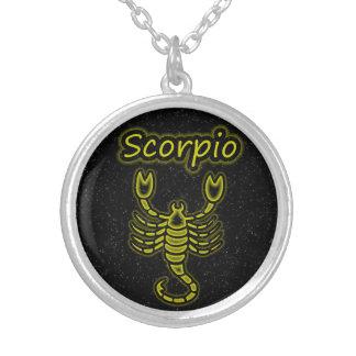 Bright Scorpio Silver Plated Necklace