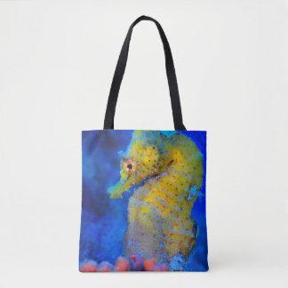Bright Seahorse   Hippocampus Tote Bag