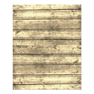 """Bright Sepia Planked Wood Scrapbook Paper 4.5"""" X 5.6"""" Flyer"""