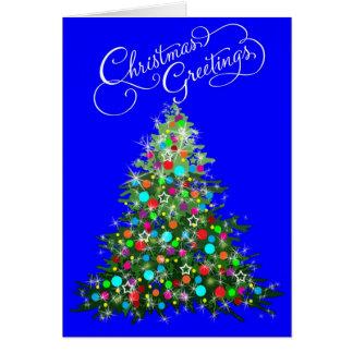Bright Shining Christmas Tree Card