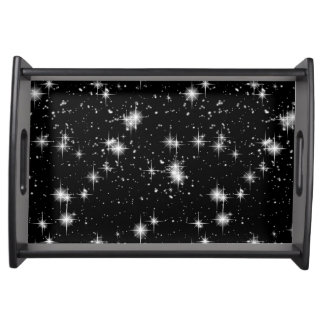 Bright Shining Stars In Space Serving Tray