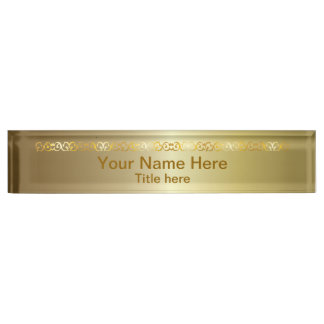 Bright Shiny Gold | DIY Name and Title Name Plate