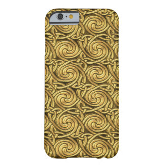 Bright Shiny Golden Celtic Spiral Knots Pattern Barely There iPhone 6 Case