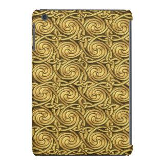 Bright Shiny Golden Celtic Spiral Knots Pattern iPad Mini Case