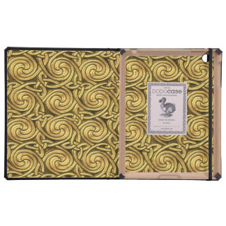 Bright Shiny Golden Celtic Spiral Knots Pattern Case For iPad
