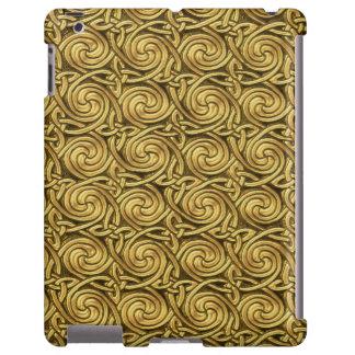 Bright Shiny Golden Celtic Spiral Knots Pattern