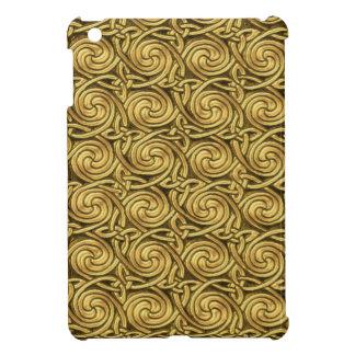 Bright Shiny Golden Celtic Spiral Knots Pattern Case For The iPad Mini