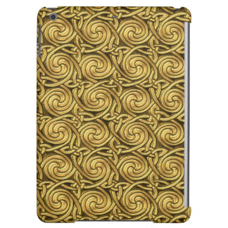 Bright Shiny Golden Celtic Spiral Knots Pattern Case For iPad Air