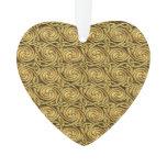 Bright Shiny Golden Celtic Spiral Knots Pattern Ornament