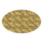 Bright Shiny Golden Celtic Spiral Knots Pattern Oval Sticker