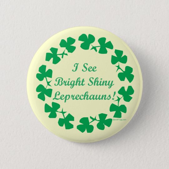 Bright Shiny Leprechauns St. Patricks Day Buttons