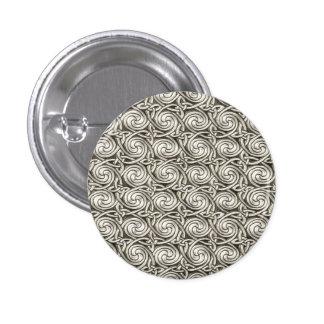 Bright Shiny Silver Celtic Spiral Knots Pattern Pinback Buttons