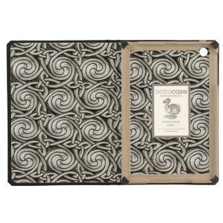 Bright Shiny Silver Celtic Spiral Knots Pattern iPad Mini Retina Cases