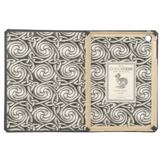Bright Shiny Silver Celtic Spiral Knots Pattern iPad Air Covers