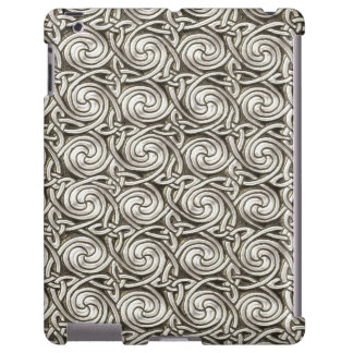 Bright Shiny Silver Celtic Spiral Knots Pattern