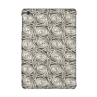 Bright Shiny Silver Celtic Spiral Knots Pattern iPad Mini Retina Case