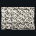 "Bright Shiny Silver Celtic Spiral Knots Pattern Placemat<br><div class=""desc"">A pattern of bright shiny silver carved and embossed spiral Celtic style knots. The knots intertwine in an endless pattern design.</div>"