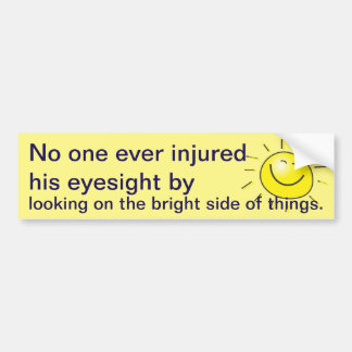 Bright side bumper sticker