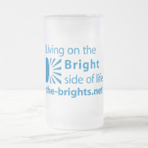 Bright Side Frosted Glass Beer Mug