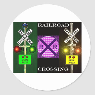 Bright Signals And Signs Classic Round Sticker