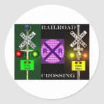 Bright Signals And Signs Round Sticker