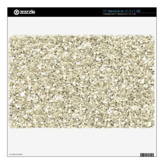 Bright Silver Glitter MacBook AIr Skin