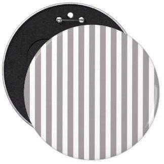 Bright Silver Thistle Cabana Stripe Pattern 6 Inch Round Button
