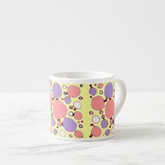 Bright Sketchy Circles 6 Oz Ceramic Espresso Cup