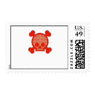 Bright Skull Postage Stamp