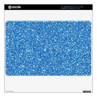 Bright Sky Blue Glitter Mac AIr Skin Decals For The MacBook