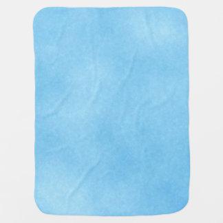 Bright Sky Blue Stroller Blanket