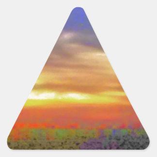 Bright Sky Triangle Sticker