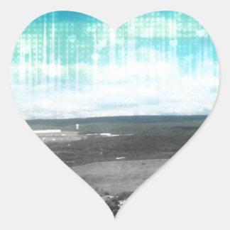 Bright Skys Heart Sticker