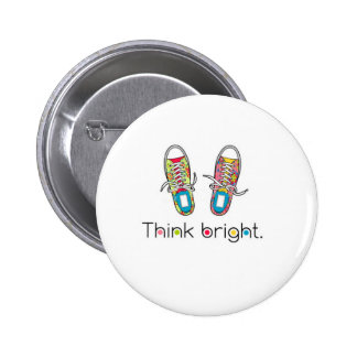 Bright Sneaks 2 Inch Round Button