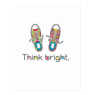 Bright Sneaks Postcard
