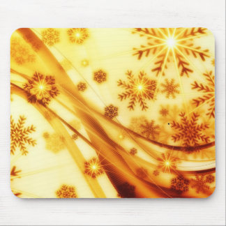 Bright Snowflake Mouse Pad