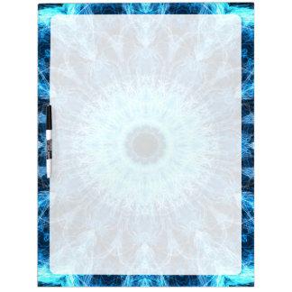 bright snowflower kaleidoscope Dry-Erase board