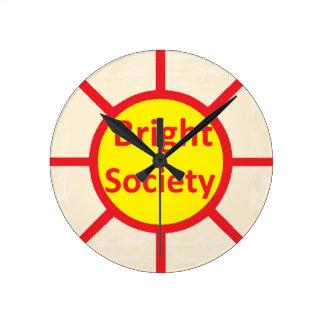 Bright Society Round Clock