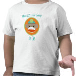 Bright Sock Monkey: Third Birthday Tee