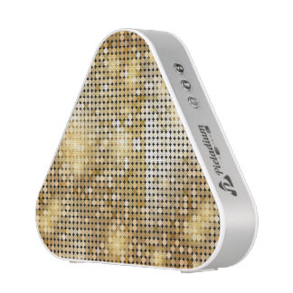 Bright sparkling golden sequin glitters disco ball bluetooth speaker