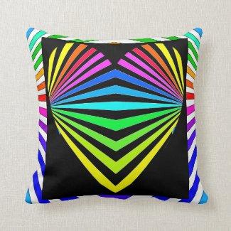 Bright Spectrum Kaleidoscope World 15 Throw Pillow