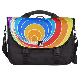 Bright Spiral Vortex Abstract Laptop Computer Bag