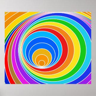 Bright Spiral Vortex Abstract Poster