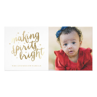 Bright Spirits   Holiday Photocard Card
