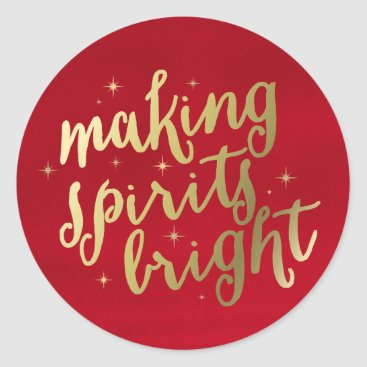 Christmas Themed Bright Spirits   Holiday Stickers