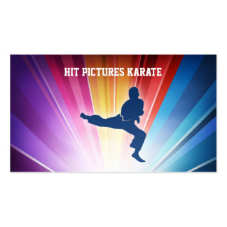 Bright Splash Martial Arts Sports Exercise Fitness Business Card