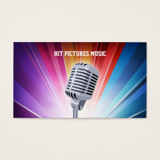 Bright Splash Musician Deejay Microphone Cards