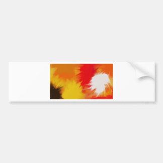 Bright splash of paint bumper sticker